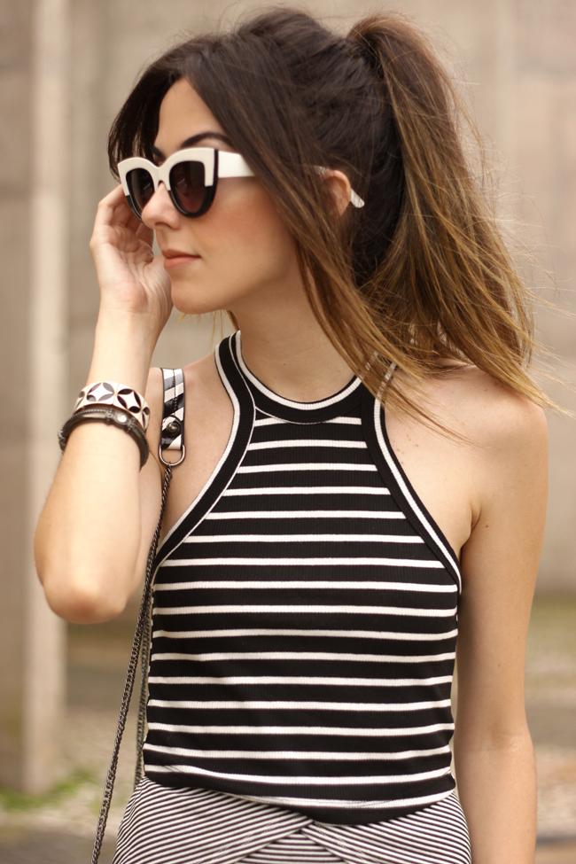 FashionCoolture - 04.11.2015 look du jour Displicent black and white mix of prints (3)