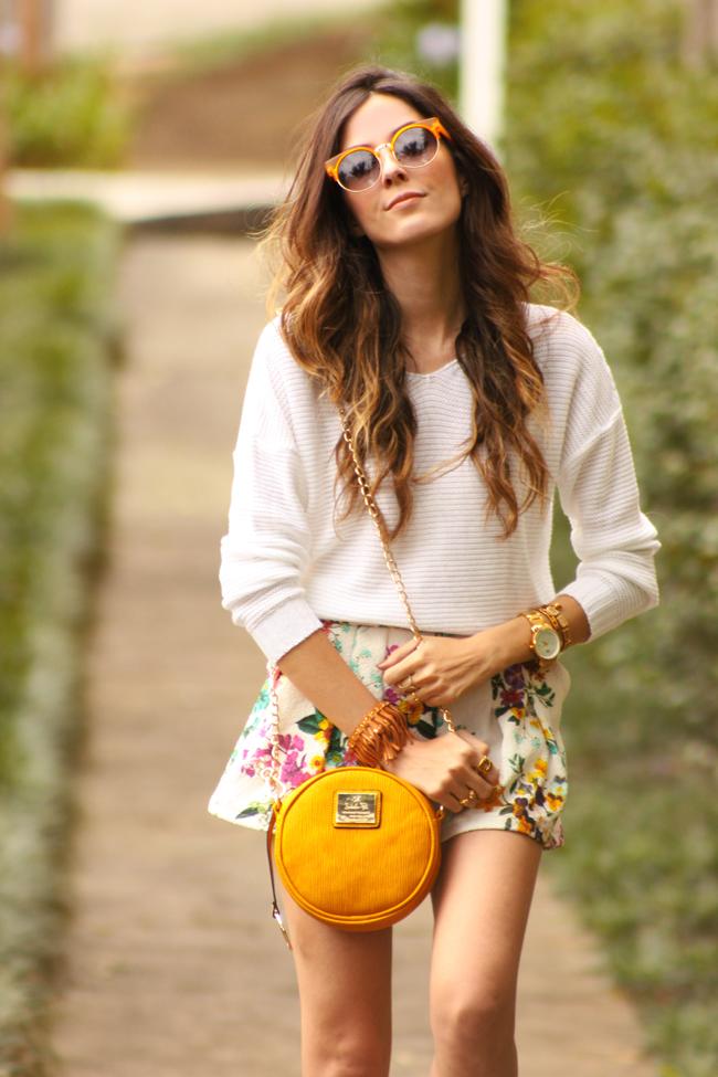 FashionCoolture - 17.11.2015 look du jour Dafiti floral shorts Keds (2)