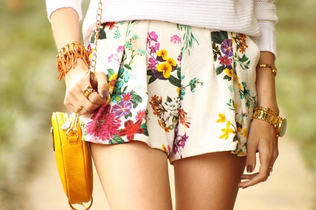 FashionCoolture - 17.11.2015 look du jour Dafiti floral shorts Keds (3)