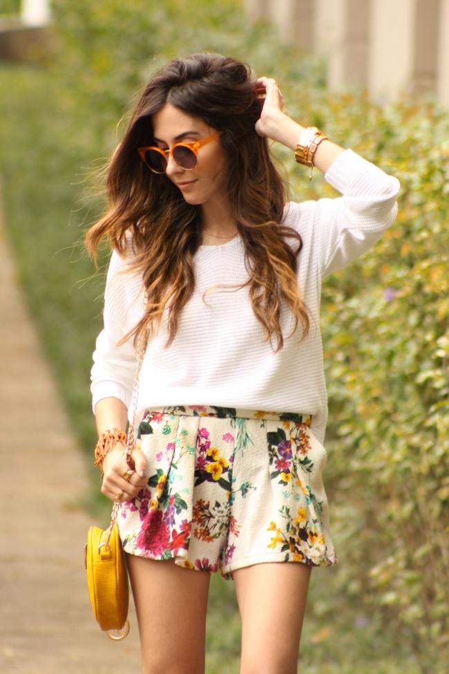 FashionCoolture - 17.11.2015 look du jour Dafiti floral shorts Keds (7).
