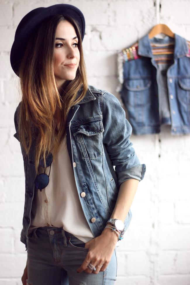 FashionCoolture - 18.11.2015 look du jour denim Gap Pandora bracelets (3)