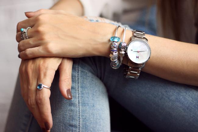 FashionCoolture - 18.11.2015 look du jour denim Gap Pandora bracelets (5)