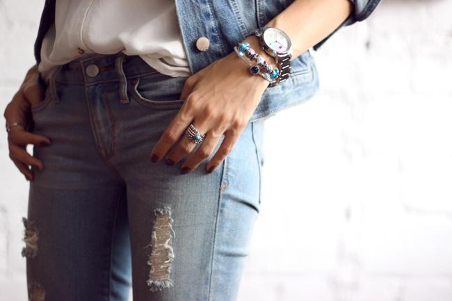 FashionCoolture - 18.11.2015 look du jour denim Gap Pandora bracelets (9)