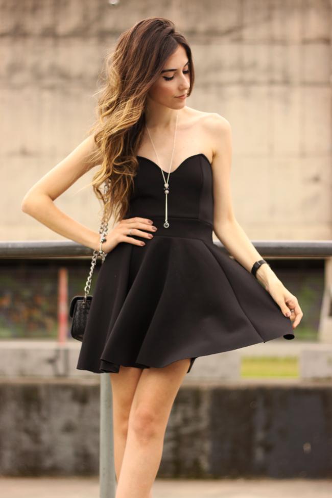 FashionCoolture - 23.11.2015 look du jour Pandora bracelets little black dress (3)
