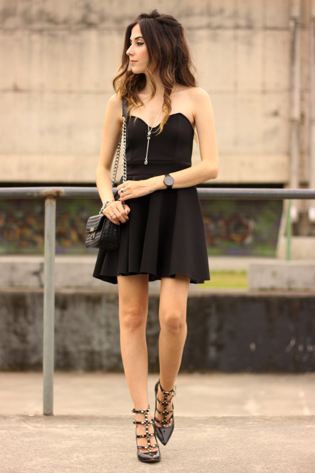 FashionCoolture - 23.11.2015 look du jour Pandora bracelets little black dress (9)