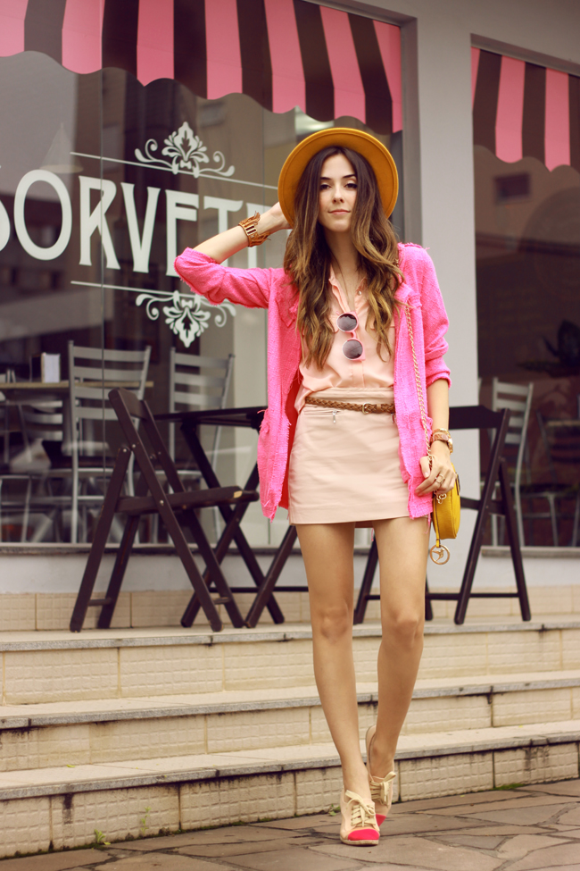 FashionCoolture - 26.11.2015 look du jour Dafiti pink outfit girly yellow bag (1)