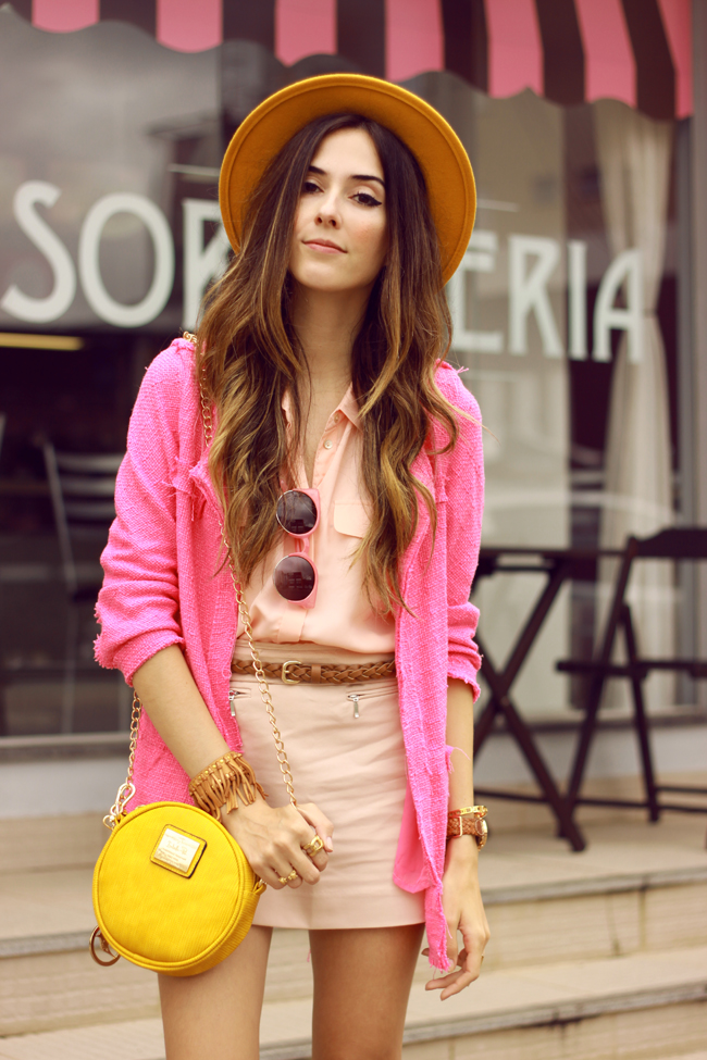 FashionCoolture - 26.11.2015 look du jour Dafiti pink outfit girly yellow bag (2)