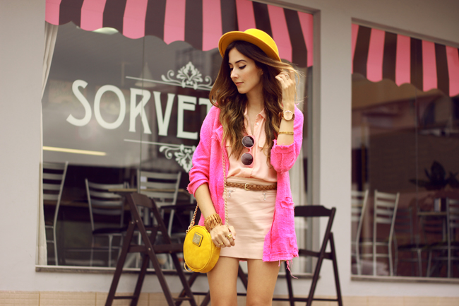 FashionCoolture - 26.11.2015 look du jour Dafiti pink outfit girly yellow bag (4)