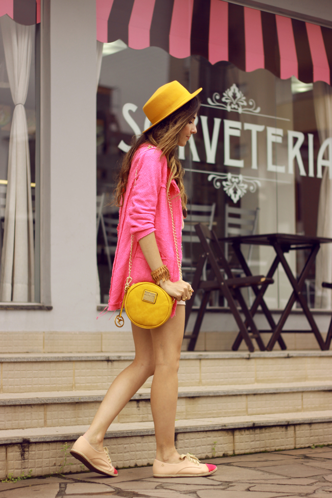 FashionCoolture - 26.11.2015 look du jour Dafiti pink outfit girly yellow bag (5)
