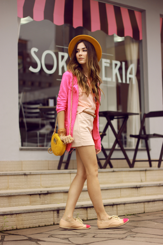 FashionCoolture - 26.11.2015 look du jour Dafiti pink outfit girly yellow bag (8)