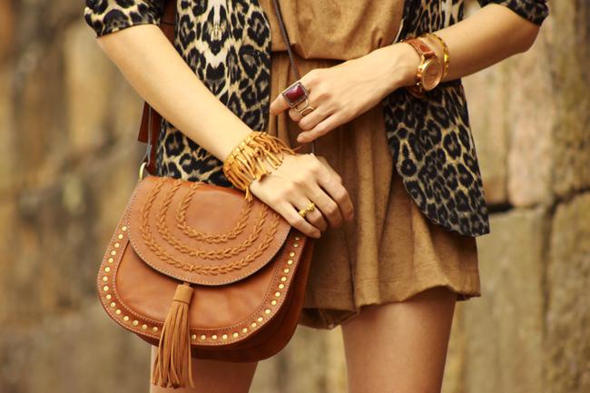 FashionCoolture - 27.11.2015 look du jour Amaro suede brown leopard print blazer (4)