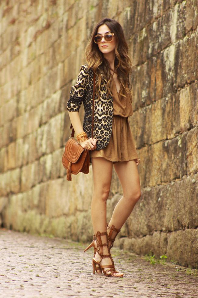 FashionCoolture - 27.11.2015 look du jour Amaro suede brown leopard print blazer (5)
