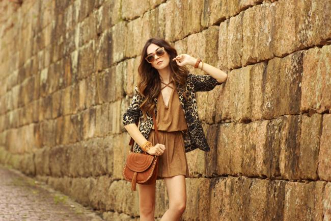 FashionCoolture - 27.11.2015 look du jour Amaro suede brown leopard print blazer (7)