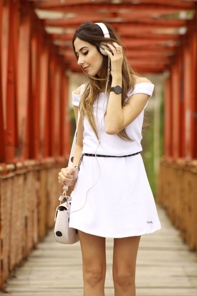 FashionCoolture - 03.12.2015 look du jour Dafiti white dress dots bag Keds (6)
