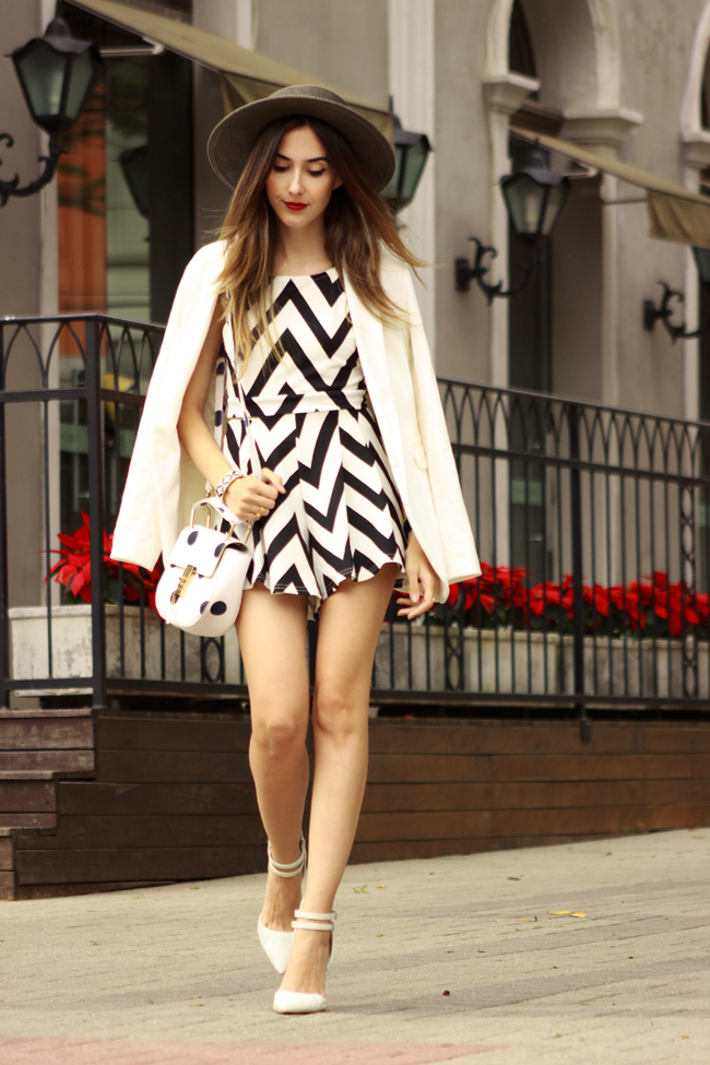 FashionCoolture - 04.12.2015 look du jour FashionFrezzie zig zag print black and white (1)