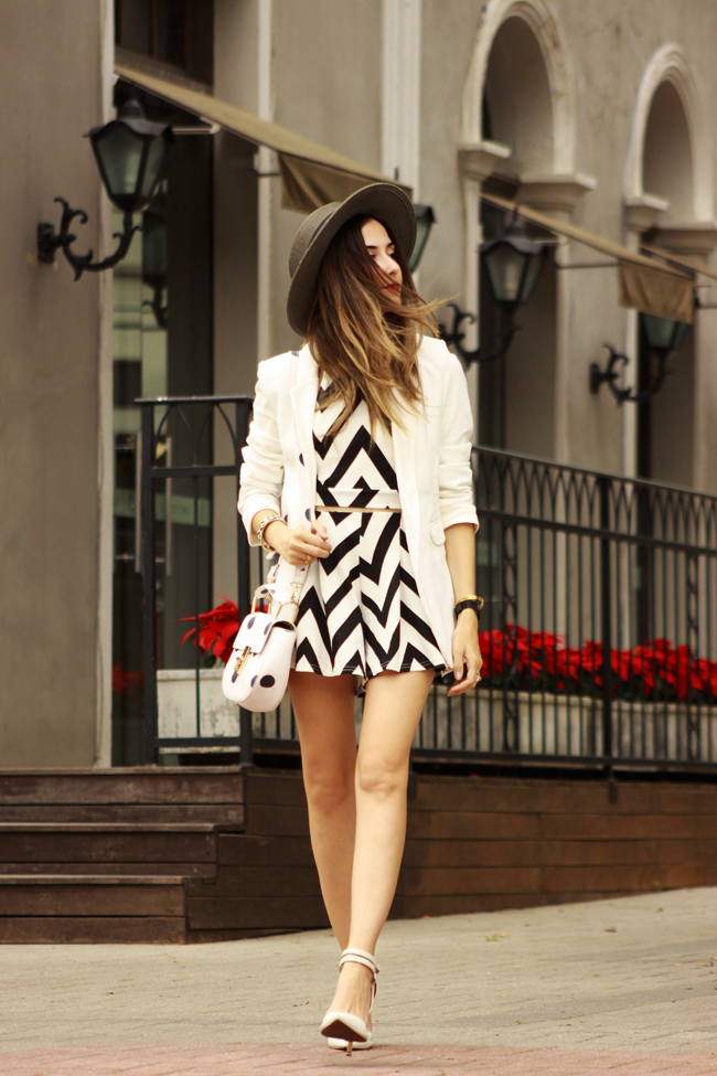 FashionCoolture - 04.12.2015 look du jour FashionFrezzie zig zag print black and white (5)