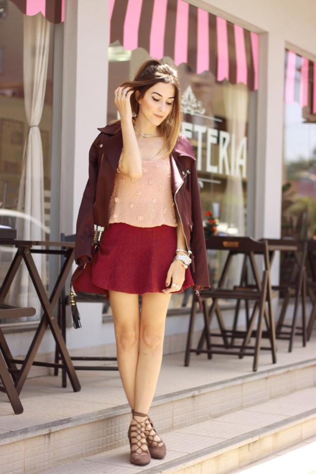 FashionCoolture - 09.12.2015 look du jour Pandora rings baby pink top Burgundy (1)
