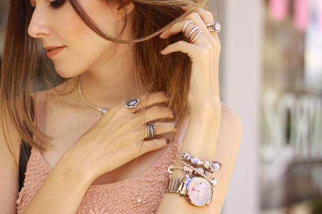 FashionCoolture - 09.12.2015 look du jour Pandora rings baby pink top Burgundy (4)