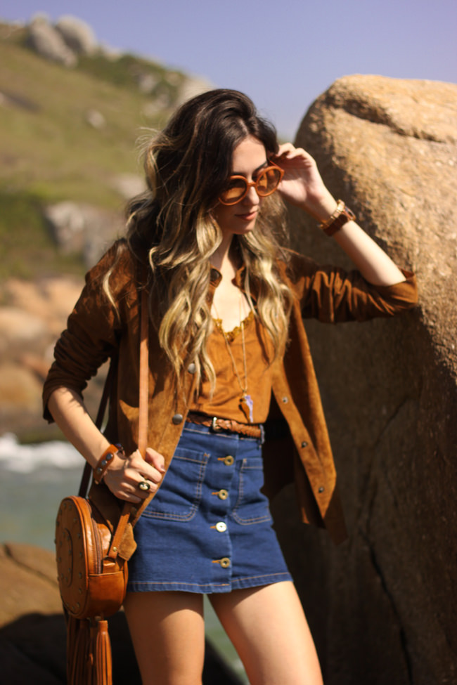 FashionCoolture - 13.01.2016 look du jour denim button front skirt boho outfit (3)