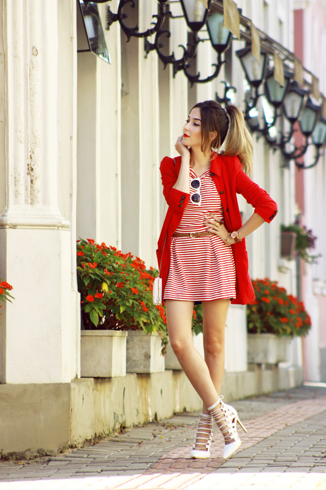 FashionCoolture - 20.01 look du jour Slywear striped white and red (1)