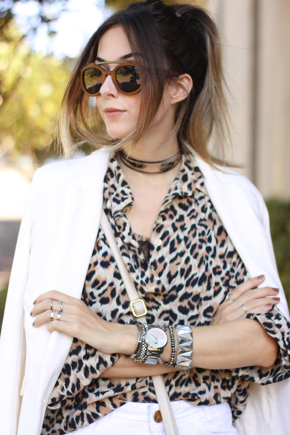 FashionCoolture - 29.02.2016 look du jour all white outfit Leopard print (6)