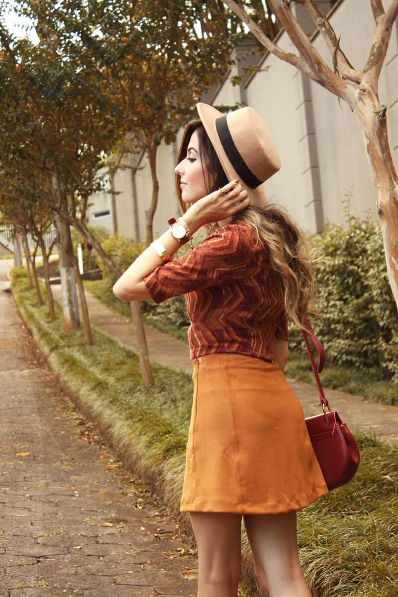 FashionCoolture - 17.03.2016 look du jour Erre Erre camel suede skirt boots (5)