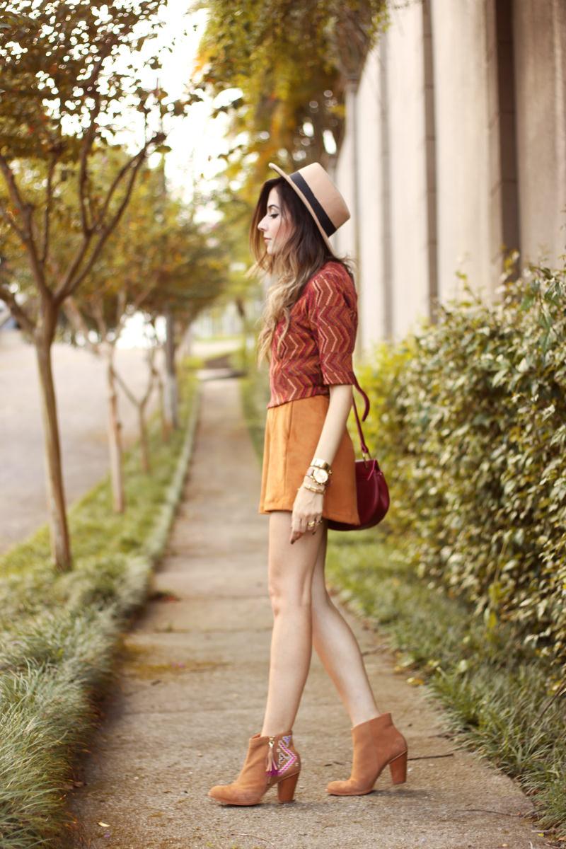 FashionCoolture - 17.03.2016 look du jour Erre Erre camel suede skirt boots (6)