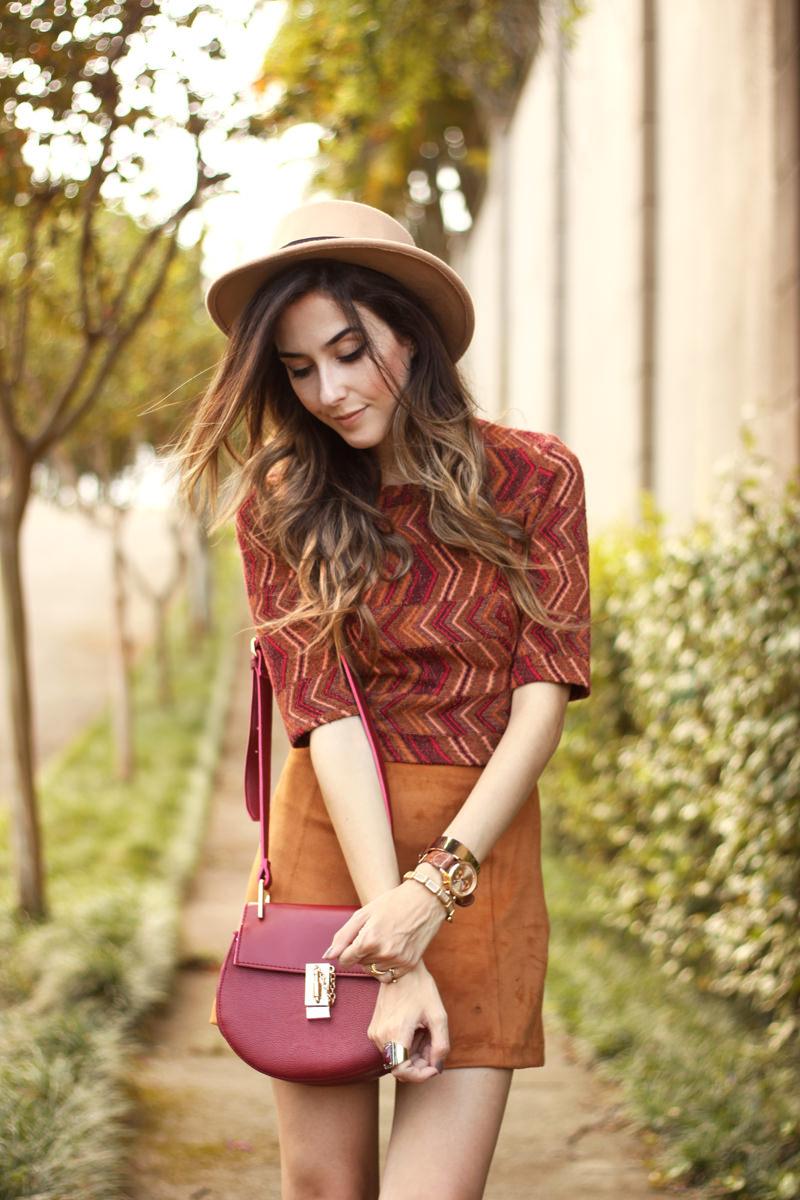 FashionCoolture - 17.03.2016 look du jour Erre Erre camel suede skirt boots (7)