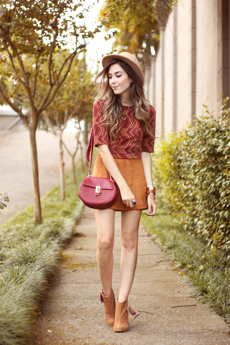 FashionCoolture - 17.03.2016 look du jour Erre Erre camel suede skirt boots (8)