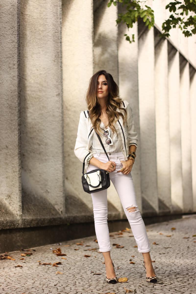 FashionCoolture - 24.03.2016 look du jour white outfit pied de poule heels denim (1)