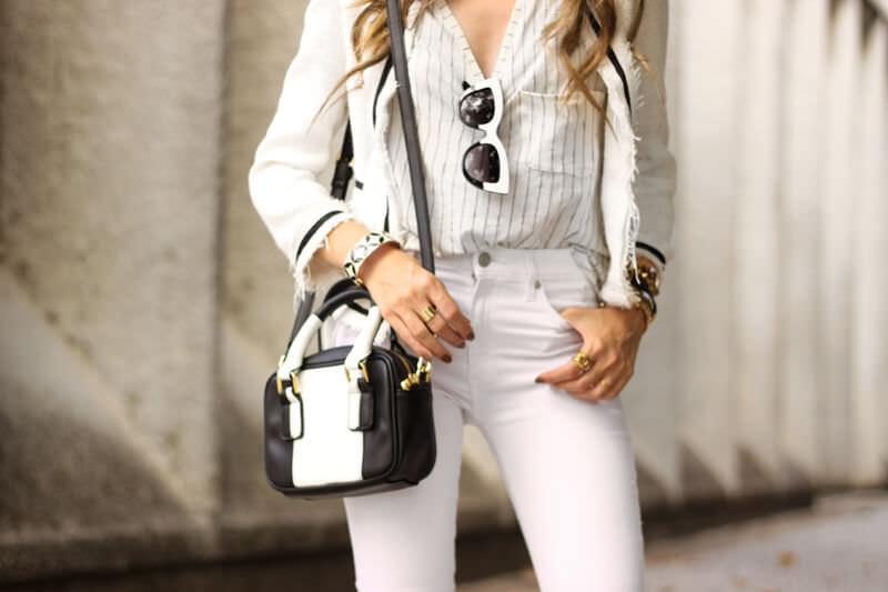 FashionCoolture - 24.03.2016 look du jour white outfit pied de poule heels denim (5)