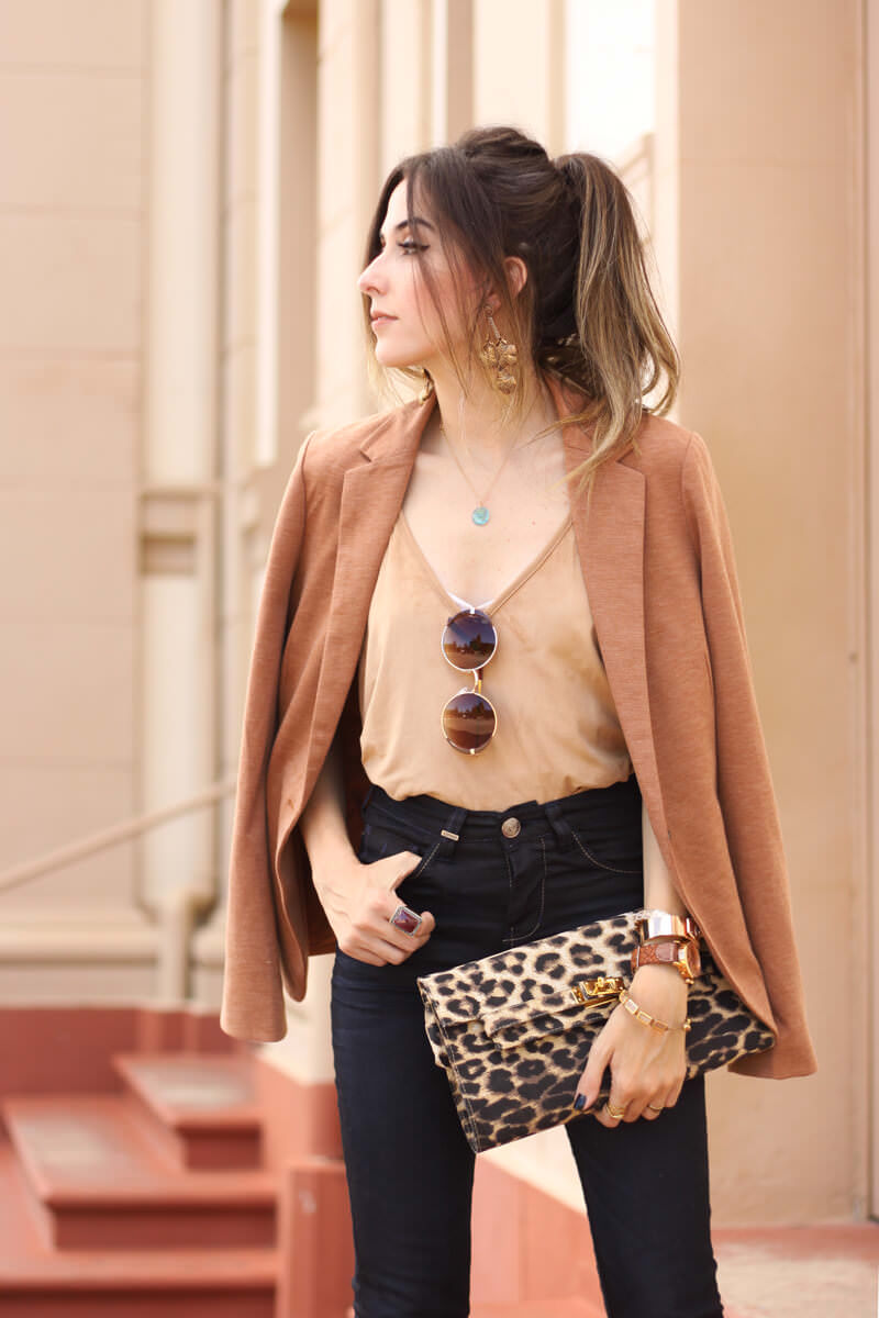 FashionCoolture - 30.03.2016 look du jour flare denim MOfficer jeans camel blazer (5)
