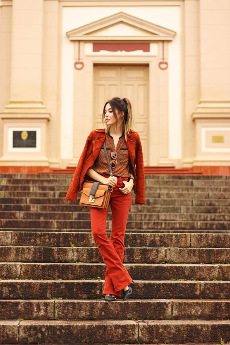 FashionCoolture - 31.03.2016 look du jour denim flare ferrugem boho (1)