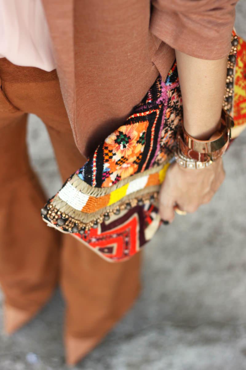 FashionCoolture - 06.04.2016 look du jour Shoulder camel suede pants blazer (3)