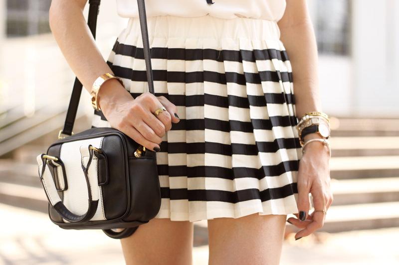 FashionCoolture - 20.04.2016 look du jour black and white preppy outfit stripes oxford (6)