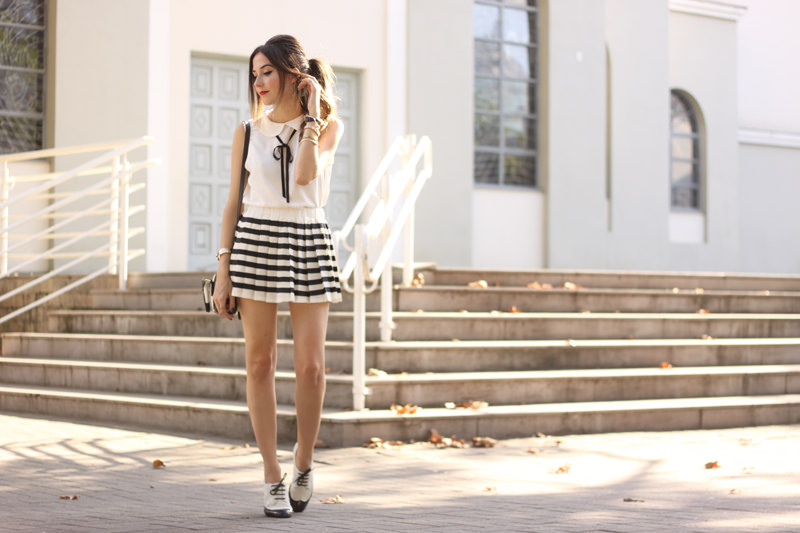 FashionCoolture - 20.04.2016 look du jour black and white preppy outfit stripes oxford (8)