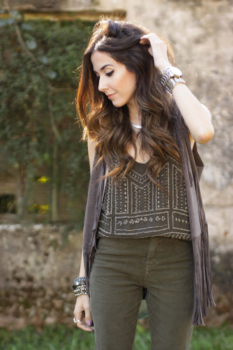 FashionCoolture - 19.05.2016 look du jour Shoulder olive green autum outfit (2)