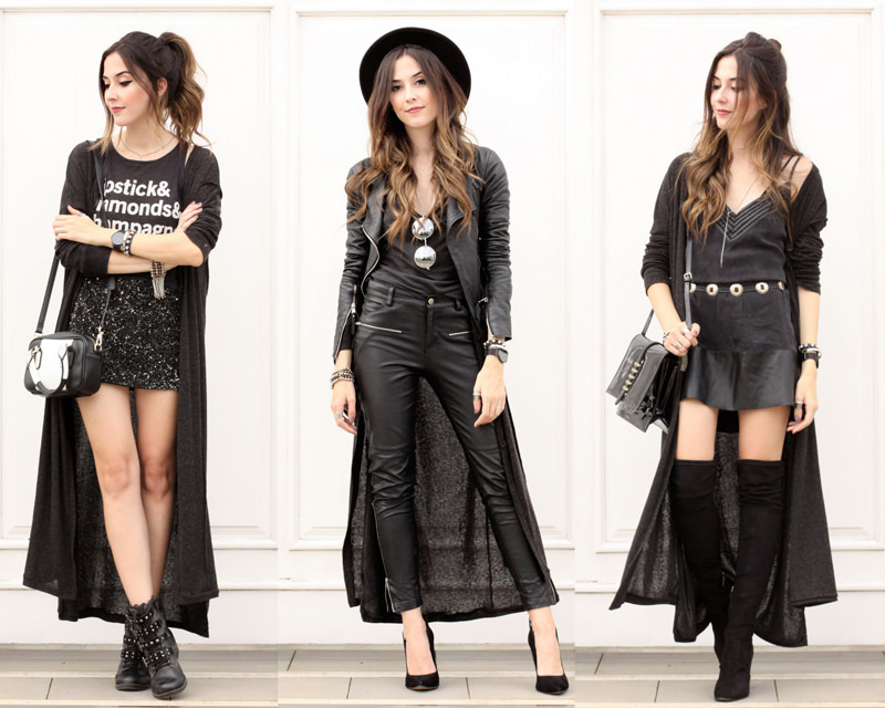 FashionCoolture - como usar cardigan longo look all black outfit long cardigan