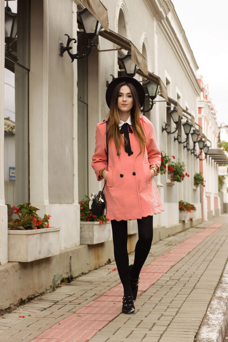 FashionCoolture - look du jour scallop coat preppy look (1)