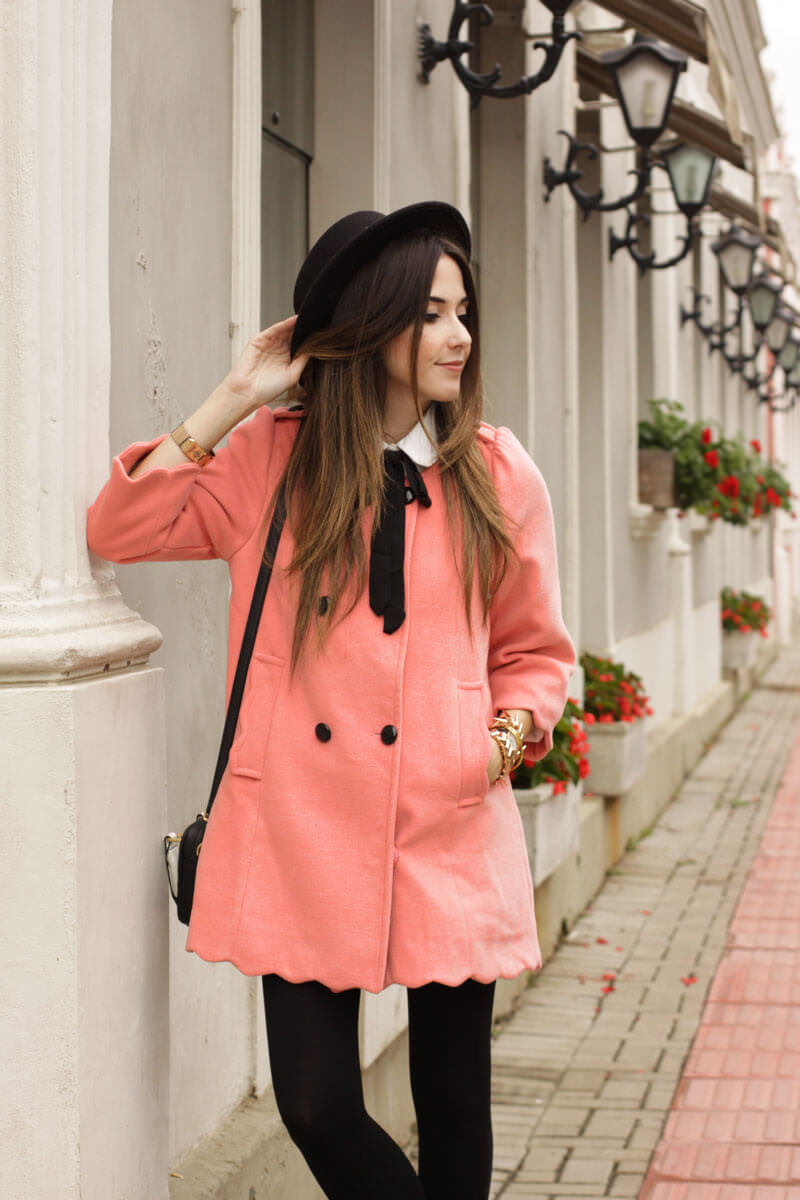 FashionCoolture - look du jour scallop coat preppy look (2)
