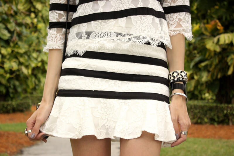 FashionCoolture - 28.06.2016 look du jour black and white lace stripes (4)