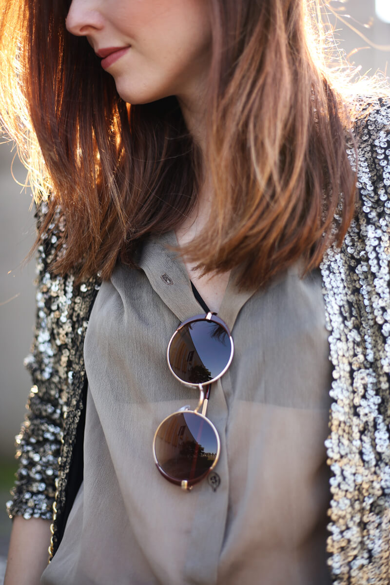FashionCoolture - 01.08.2016 look du jour military green and golden sequined blazer (4)