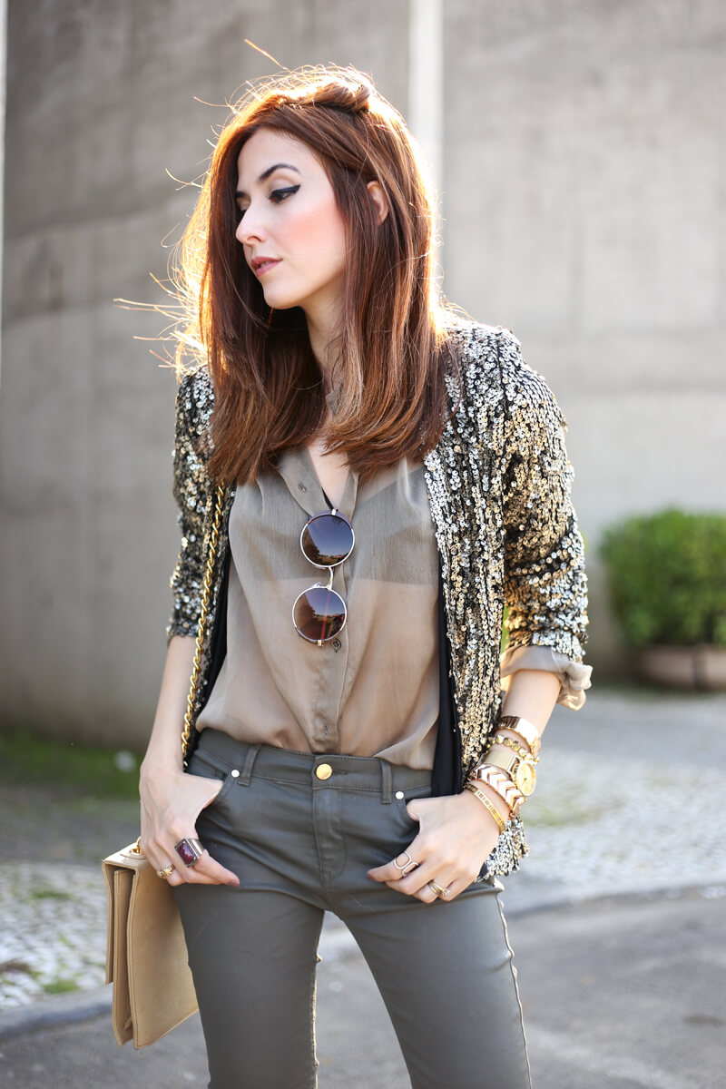 FashionCoolture - 01.08.2016 look du jour military green and golden sequined blazer (6)