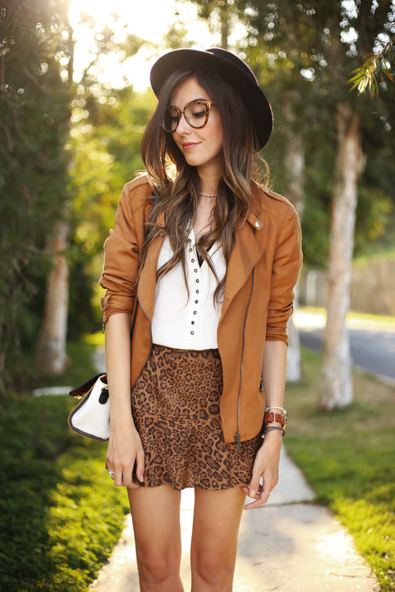 FashionCoolture - 04.07.2016 look du jour Shoulder leopard print camel jacket (5)