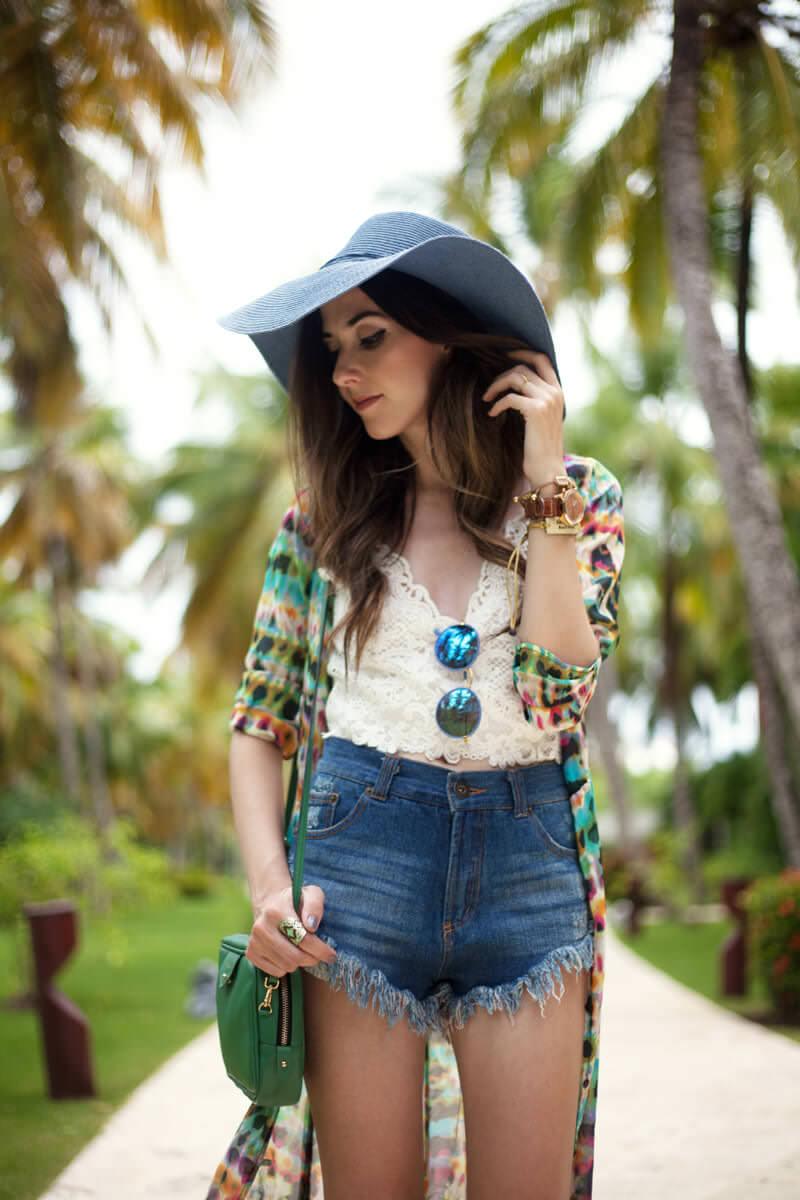 FashionCoolture - 05.07.2016 look du jour summer outfit denim shorts Punta Cana (2)
