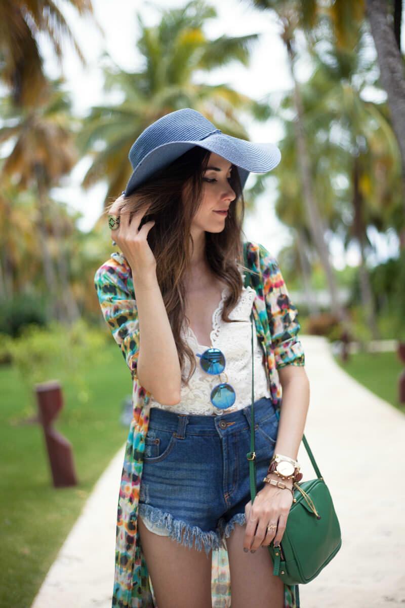 FashionCoolture - 05.07.2016 look du jour summer outfit denim shorts Punta Cana (5)