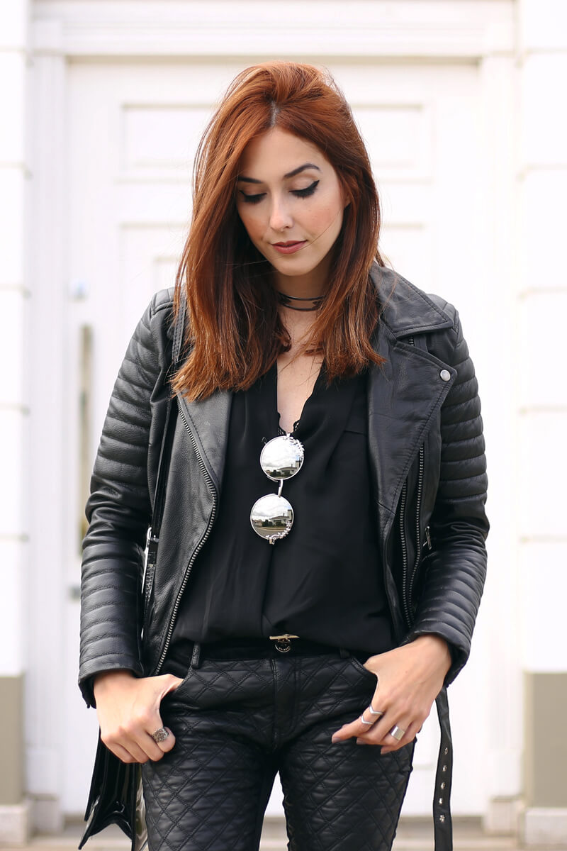FashionCoolture - 20.07.2016 look du jour all black outfit leather jacket (2)