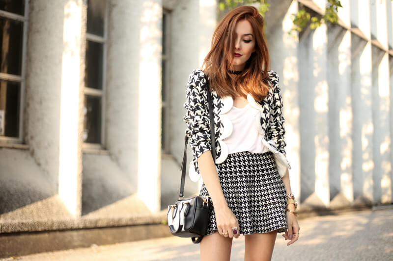 FashionCoolture - 25.07.2016 look du jour black and white pied de poule pied de coq (2)