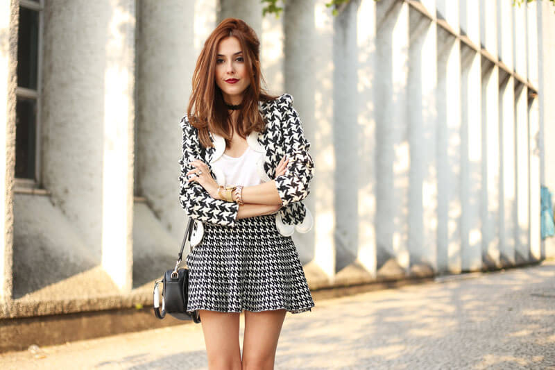 FashionCoolture - 25.07.2016 look du jour black and white pied de poule pied de coq (6)