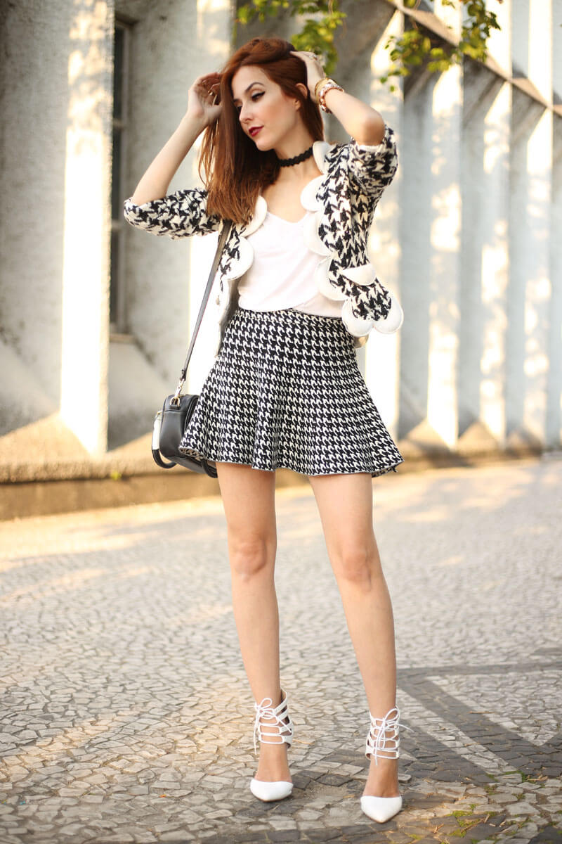 FashionCoolture - 25.07.2016 look du jour black and white pied de poule pied de coq (7)